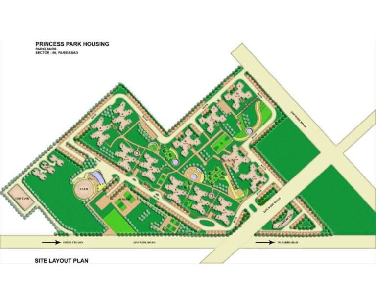 BPTP Princess Park Layout Plan